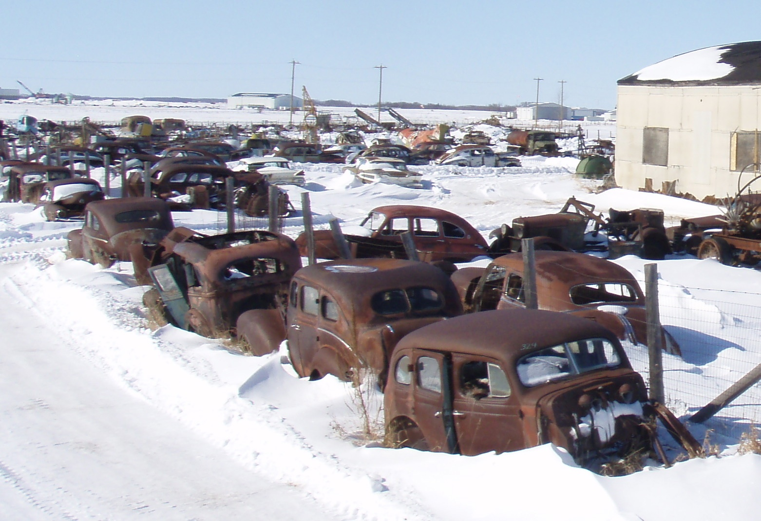 Some cars in this picture were purchased from Reynolds Museum Ltd. (Stan Reynolds) for customers